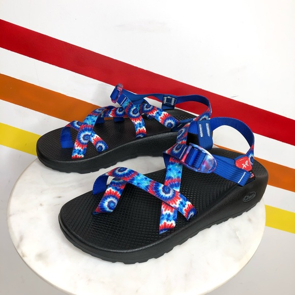 Chacos Red White Blue Sandals Mens